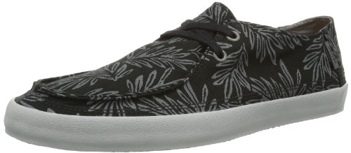 Vans Men's Rata Vulc (Aloha Leaf) Black/Pewter 7.5 D - Medium