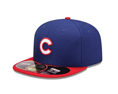 MLB Chicago Cubs Batting Practice 59Fifty Baseball Cap, Royal/Red