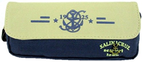 Large Capacity Marin Style Pen Pencil Case (Blue)