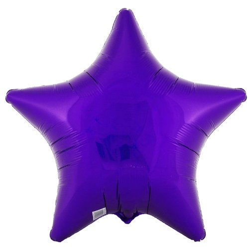 Party Destination 171338 Purple Prismatic Star 18 in. Foil Balloon - 1