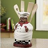 black chef kitchen utensil holder
