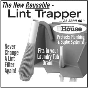Lint Trapper - Laundry Tub Drain Lint Trapper