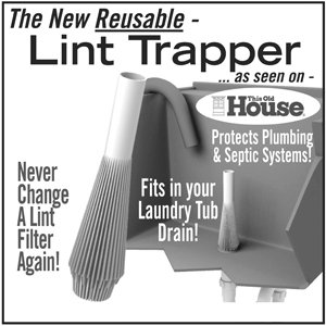 Lint Trapper - Laundry Tub Drain Lint Trapper