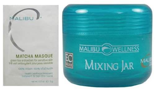 Malibu C Matcha Masque Treatment For Sensitive Skin With Mixing Jar
