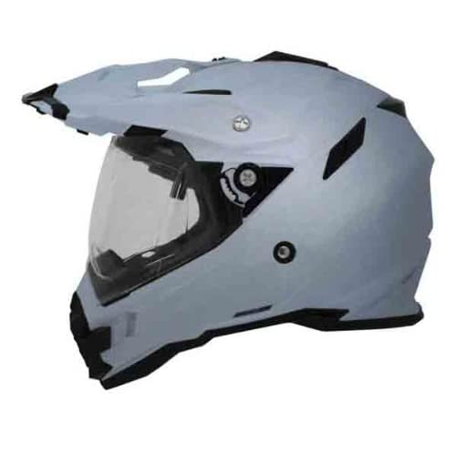 Small//SM Silver New AFX FX-41DS Dual-Sport Adult Helmet
