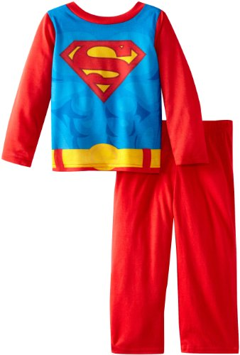 Komar Kids Boys Toddler Superman Costume Sleep Set with Cape