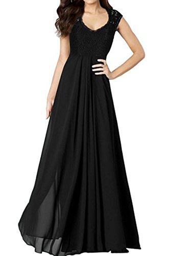 ANGVNS-Womens-Casual-Deep-V-Neck-Sleeveless-Vintage-Maxi-Black-Dress
