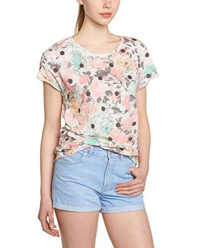 O'Neill T-Shirt Manica Corta Lw Open Your Heart S/Slv  [Grigio/Blu/Rosa]