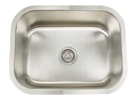 Artisan AR 2318 D9-D Premium Collection 16-Gauge 23-Inch Undermount Single Basin Stainless Steel Utility Sink