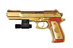 Catterpillar Air Soft Golden Gun with FREE extra 100 Bullets (Approx)