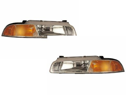 Chysler Cirrus/Dodge Stratus/Plymouth Breeze Headlights Set w/Xenon Bulbs (Plymouth Breeze Headlight compare prices)