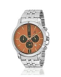 Yepme Mens Chronograph Watch - Orange/Silver -- YPMWATCH2050