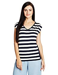 Nautica Women's Body Blouse Top (NT519K1404NV_Navy_XS)