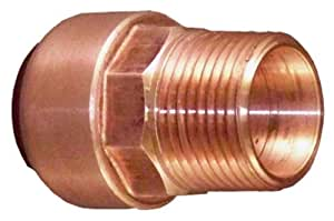 Elkhart Products 10169926 CopperBite Lead-Free 1-Inch Copper by Male Push-Fit Male Adapter
