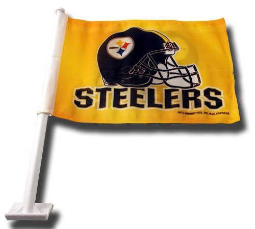 NFL Pittsburgh Steelers Car Flag (Gold) (Steelers Merchandise Under $12 compare prices)