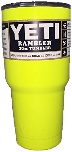 YETI Coolers Rambler Tumbler, Stainless Steel, 30oz, One Size NEON YELLOW CITRON