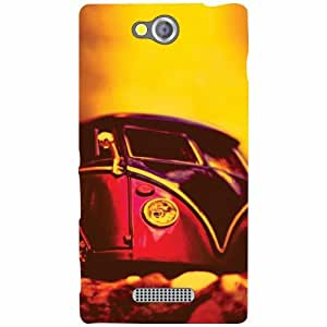 Sony Xperia C Back Cover - Yellow Designer Cases