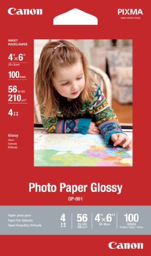 Canon Photo Paper Glossy 4 x 6 Inches, GP-601, 100 Sheets (8649B002)