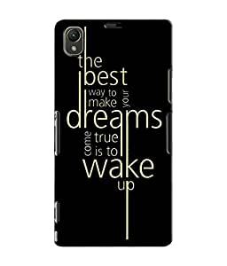 EU4IA TYPOGRAPHY MATTE FINISH 3D MATTE FINISH Back Cover Case For Sony Xperia...