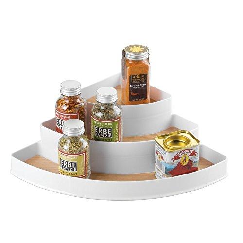 Countertop Spice Organizer : InterDesign RealWood Spice Rack Organizer for Kitchen Countertop ...