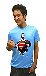 LetsFlaunt Super Human T-shirt Extra Blue M 1 2x Dry-Fit-X-Small Nw