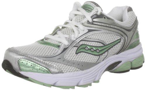 Saucony Women's Pro Grid Echelon White/Silver/Green Trainer 10035-2 6 UK