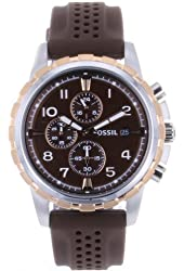 Fossil Men's FS4612 Stainless Steel Analog Brown Dial Watch