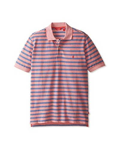 IZOD Men's Short Sleeve Feeder Stripe Oxford Pique Polo