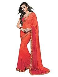 Sarang Collections Premium Satin Silk Saree with Designer Blouse