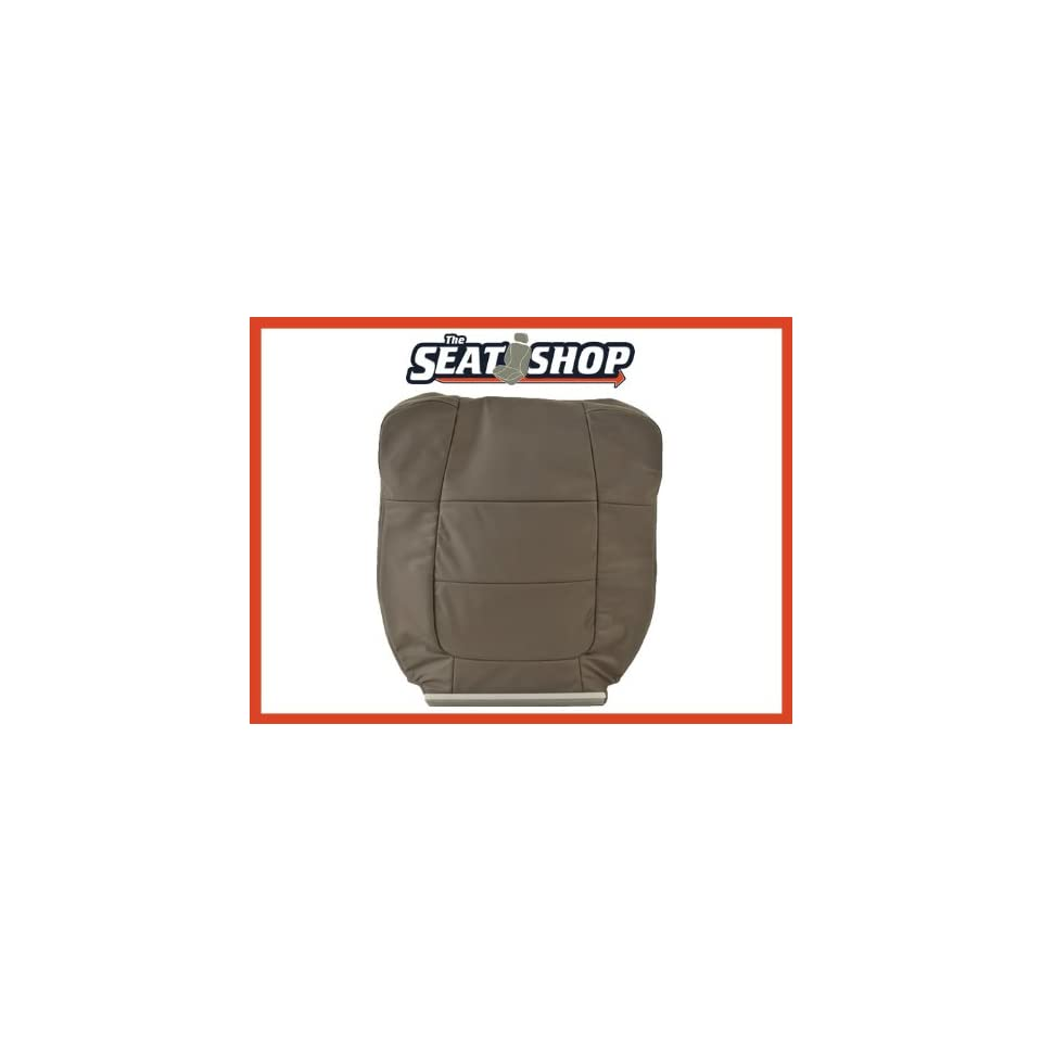 01 02 Ford F150 Lariat SuperCrew Buckets Grey Leather Seat Cover P4 LH top