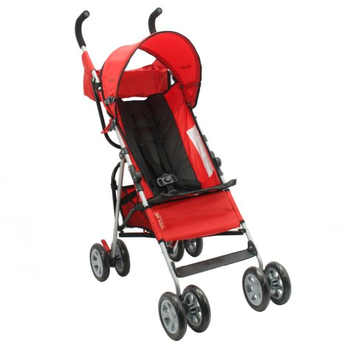 The First Years Jet Stroller, Red/Black front-952721