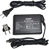 HQRP AC Adapter / Charger compatible with JVC GZ-HM300, GZ-HM300BUS, GZ-HM320, GZ-HM320BUS Everio Camcorder with USA Cord & Euro Plug Adapter