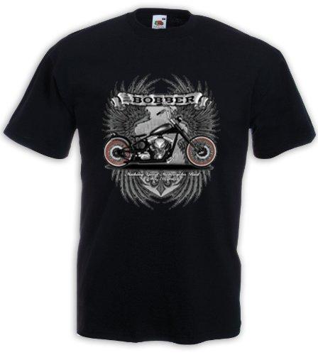 Biker Maglietta Bobber Motorcycle Tattoo Rockabilly Skull V8 Racer Gr.XL