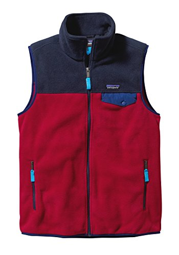 Patagonia Lightweight Synchilla Snap-T Fleece Vest - Men's Classic Red/Navy Blue, S