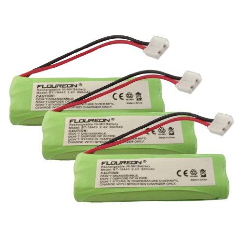 3 X Floureon® Ni-Mh 2.4V 800 Mah Replacement Cordless Telephone Battery V-Tech:Ls6125-4, Ls6126, Ls6205, Ls6215, Ls6215-2, Ls6215-3, Ls6217, Ls6225, Ls6225-2, Ls6225-3, Ls6225-4, Ls6225-5