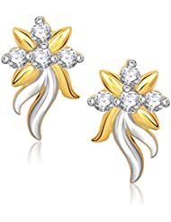 VK Jewels New Style Gold And Rhodium Plated Stud Earrings For Women -ER1196G [VKER1196G]