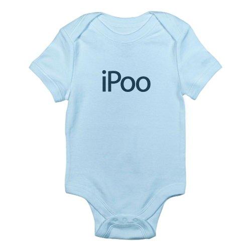 Cafepress Ipoo Infant Bodysuit - 3-6M Sky Blue front-1051165