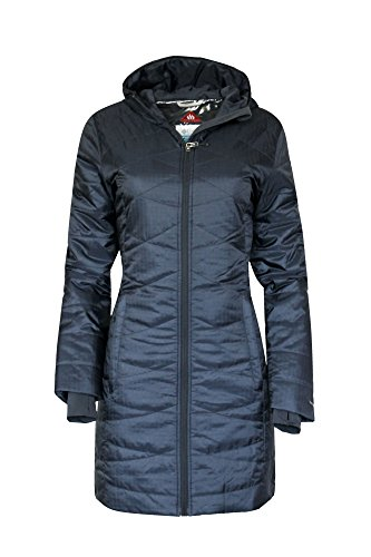 COLUMBIA WOMEN'S MORNING LIGHT OMNI HEAT LONG JACKET PUFFER NAVY (S) (Heat Jackets compare prices)