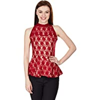Miss Chase Women's Tank Top (MCS14TP02-24-64_Maroon_X-Small)