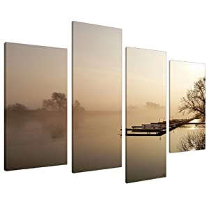 Large Brown Beige Sepia Landscape Canvas Wall Art 130cm Pictures 4117 from Wallfillers Canvas
