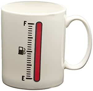 Fred & Friends TANK UP Heat-Sensitive Color Changing Fuel Gauge Mug