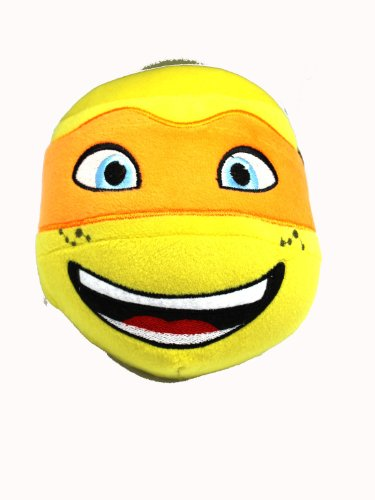 Teenage Mutant Ninja Turtle Head Plush Ball (Michelangelo) - 1