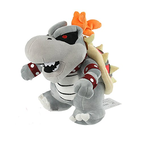 [Super Mario 3D Land Bone Kubah Dragon Plush Toy Bolster Cartoon Plush Soft Stuffed Dolls Dry Bones Bowser Koopa] (Dry Bowser Costume)