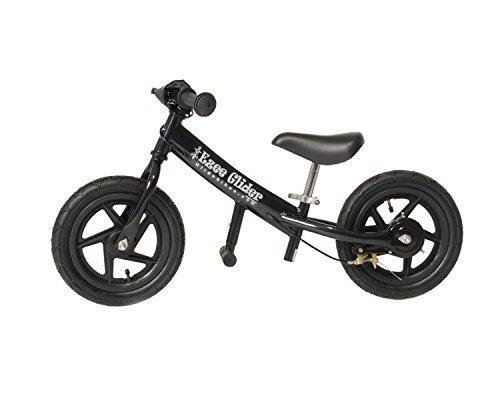 Glide Bikes EZee Glider Kid's Balance Bike (Black, 12-Inch)