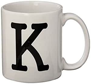 Amazoncom rikki knight bold type letter quotkquot initial for Monogram letters for cups