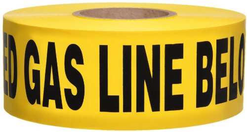 Swanson Btnd3100Ybgl4 3-Inch By 1000-Feet 4-Mil Non-Detectable Tape With Caution Buried Gas Line Below Yellow/Black Print