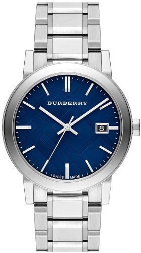 Burberry Large Check Stamped Mens Watch Bu9031