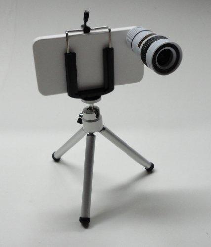 White 8 X Zoom Telescope Camera Lens Long Lens Kits For Iphone4 4S