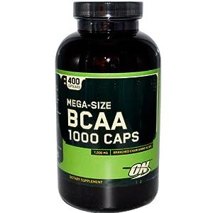 Mega-Size BCAA 1000 Caps, 1,000 mg, 400 Capsules, From Optimum Nutrition