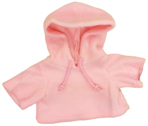 "Pink Fleece Hoodie Fits Most 14"" - 18"" Build-a-bear, Vermont Teddy Bears, and Make Your Own Stuffed Animals"